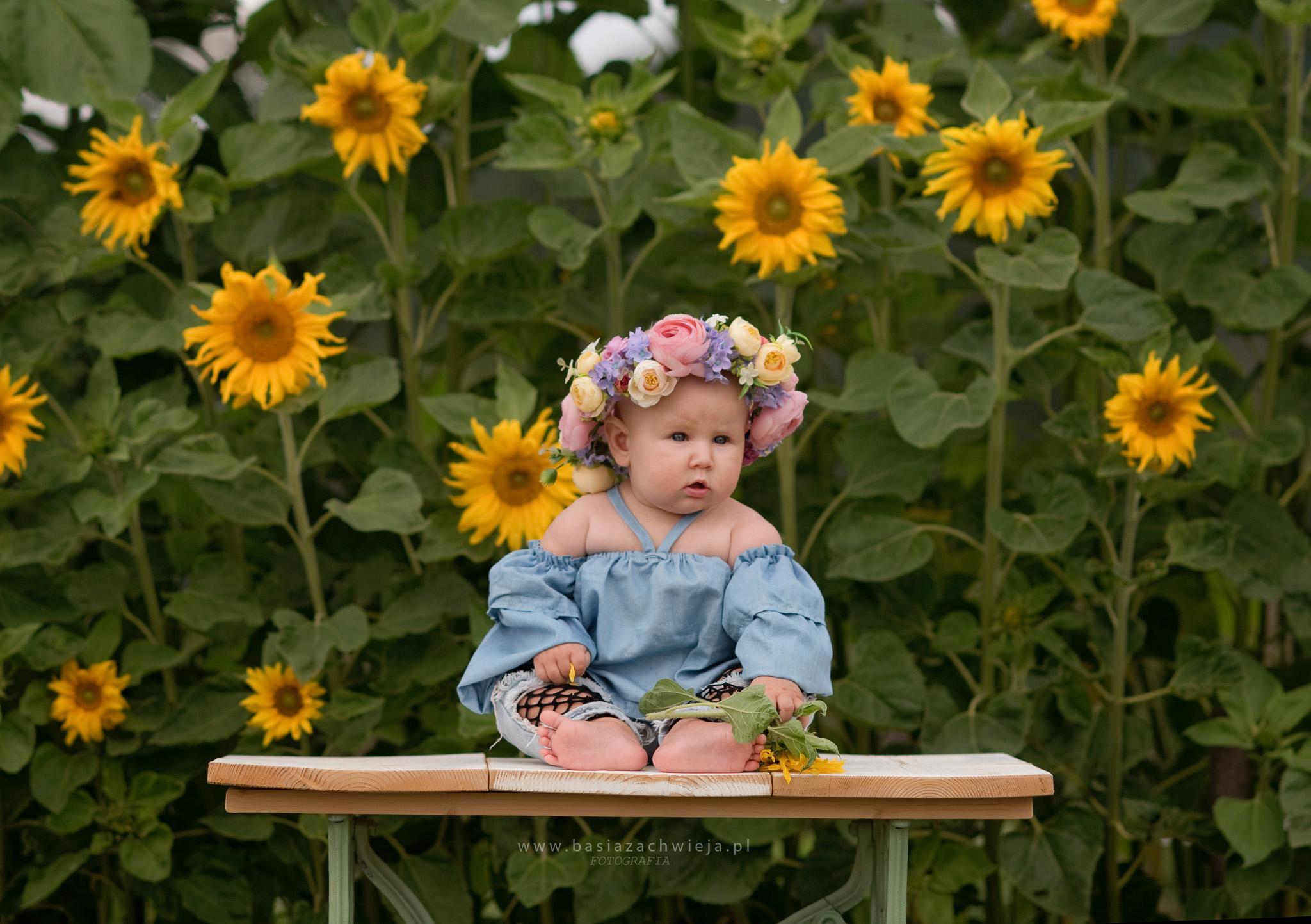 Bianka – sesja w plenerze dla malucha